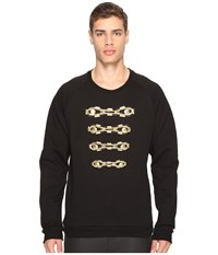 Balmain Military Sweatshirt Black Men's Sweatshirt
