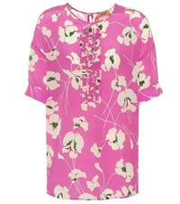 N 21 Printed Silk Top Pink