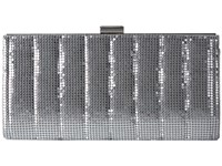Jessica Mcclintock Bailey Quilted Framed Clutch Silver Clutch Handbags