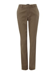 Lands' End Mid Rise Straight Leg Chinos Green