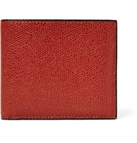 Valextra Pebble Grain Leather Billfold Wallet Brick