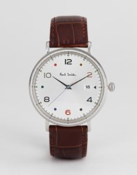 Paul Smith Ps0060002 Gauge Colour Leather Watch In Black 41Mm