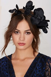 Nasty Gal Rock 'N Rose Cordella Orchid Headband Black
