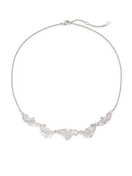 Adriana Orsini Faux Pearl And Sparkle Necklace Silver