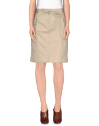 Henry Cotton's Skirts Knee Length Skirts Women Light Grey