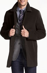 Cole Haan Men's Italian Wool Overcoat Espresso
