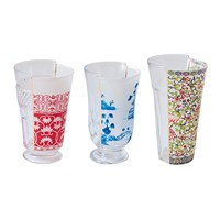 Seletti Hybrid Clarice Glasses Set Of 3