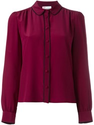 Red Valentino Peter Pan Collar Shirt Pink And Purple