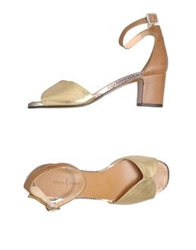 Rebeca Sanver High Heeled Sandals Gold