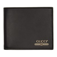 Gucci Black Logo Bifold Wallet