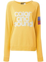 Freecity Color And Sound Print Sweatshirt Yellow Orange