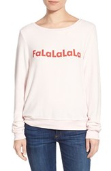 Wildfox Couture Women's Wildfox 'Baggy Beach Jumper Falalala' Pullover
