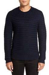 Calibrate Men's Chunky Knit Sweater Navy Eclipse Combo
