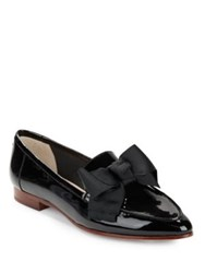 Kate Spade Cosetta Bow Accent Patent Leather Loafers Black