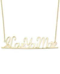 Sis By Simone I Smith Sis By Simone I. Smith 'I Love You More' Pendant Necklace In 18K Gold Over Sterling Silver Yellow Gold