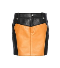 Coach Leather Miniskirt Black