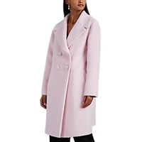 Lisa Perry Fuzzy Wool Blend Coat Pink