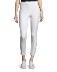 Atm Anthony Thomas Melillo Cropped Stretch Twill High Rise Pants Ivory