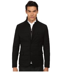 The Kooples Sport Melange Flannel Down Blazer Black