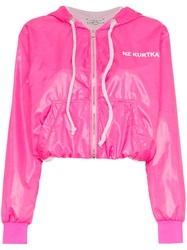Natasha Zinko Pink Nylon Zip Front Jacket Pink And Purple