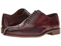 Massimo Matteo 6 Eye Wing Tip Bordo Lace Up Wing Tip Shoes Burgundy