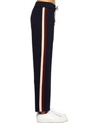 Kenzo Side Bands Techno Blend Crepe Sweatpants Navy