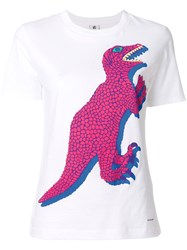 Paul Smith Ps By 'Dino' Print T Shirt Cotton S White