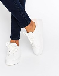 New Look Contrast Back Trainer White