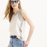 J.Crew Inset Embellished Tank Top