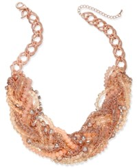Thalia Sodi Chain Link Statement Necklace Only At Macy's Rose Gold