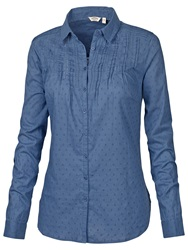 Fat Face Broderie Shirt Dark Chambray