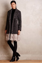 Tracy Reese Trimmed Alpine Coat Dark Grey