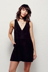 Free People Womens Retro Love Suede Dress