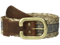 Leather Rock 1766 Tobacco Natural Women's Belts Brown