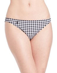 Polo Ralph Lauren Seersucker Gingham Hipster Bikini Bottom Black