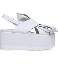 Ugg Moon Bow Leather Sandals White