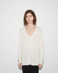 Alexander Wang Deep V Neck Sweater Ivory