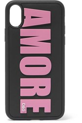 Dolce And Gabbana Amore Embossed Pvc Iphone X Case Pink