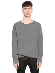 Rta Distressed Cashmere Rib Knit Sweater
