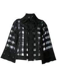 Ultrachic Sheer Checked Shirt Black