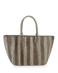Beirn Ronnie Snakeskin Tote Bag Gray