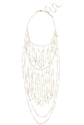 Rosantica Cometa Gold Dipped Bead And Freshwater Pearl Necklace