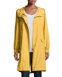 Eileen Fisher Hooded Long Anorak Jacket Plus Size Citrine