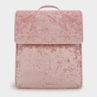 Charles And Keith Basic Front Flap Backpack Pink