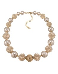 Carolee Colored Pearl Stone Necklace Rose Gold