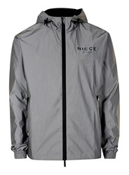 Nicce Metallic Silver Lightweight Jacket