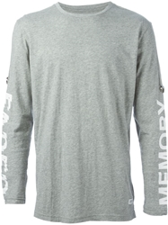 Stampd Rolled Sleeve Strap T Shirt Grey