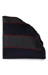 Alexander Olch Men's Stripe Wool And Cashmere Pocket Round