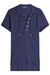 Polo Ralph Lauren Lace Up Shirt With Cotton