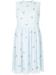 Jupe By Jackie Embroidered Butterflys Dress Blue